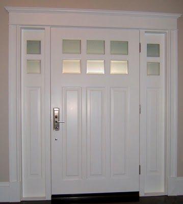 trim around interior of front door