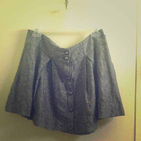 Forever 21 steampunk gray military skirt medium Cute skirt from forever 21 size medium. No rips or stains. Cannot model. Forever 21 Skirts