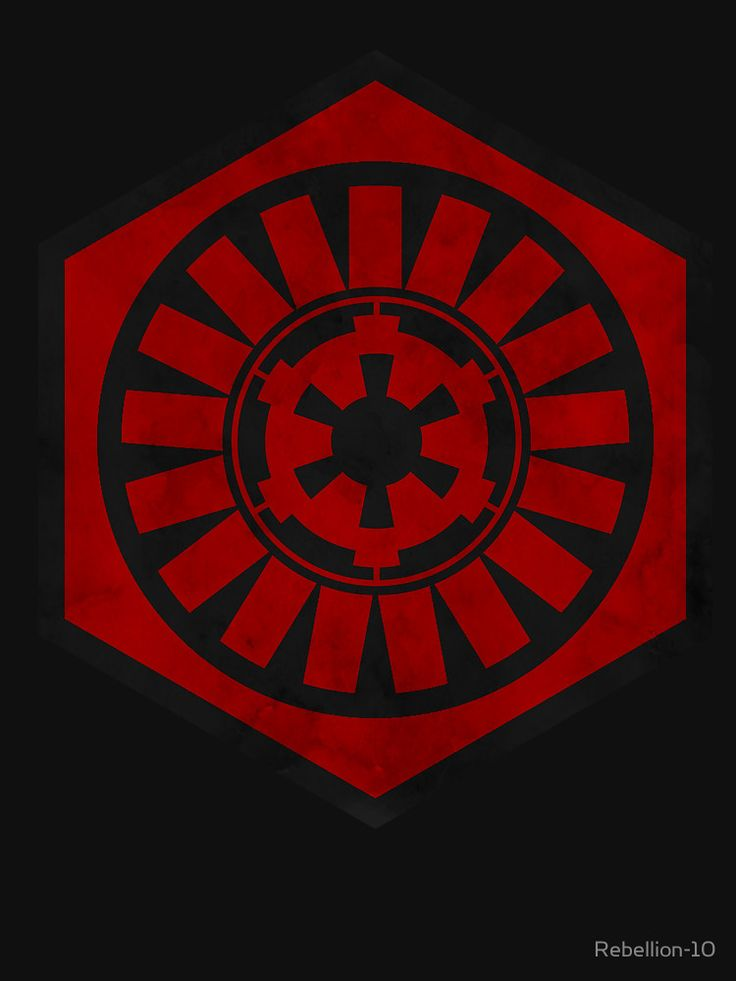 The symbol of The First Order and the logo of The Galactic Empire. The two main antagonist of the star wars media and two powerfull forces to be recon with. If you're an imperial or a member of the first order then this is the right design for you. Curse any form of resistance with this symbol.