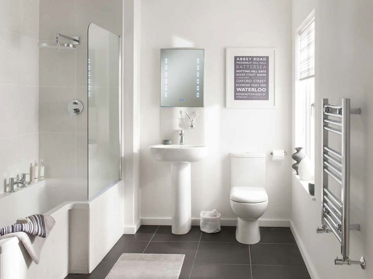 With the W10 Bathroom Suite by Bohen you can keep your small bathroom simple. Stylish and compact sanitary ware, plus an L-shaped bath and full-sized shower enclosure area, are designed to make the most of every millimetre of floor space.