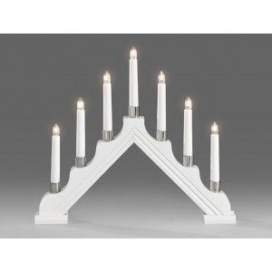 Candlestick White 7 Candles