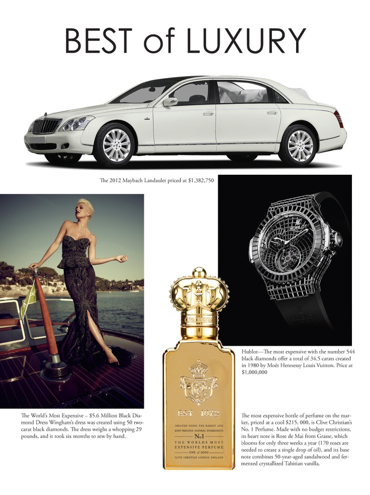 Best of Luxury! A look at some of the elite products for a life-well lived. Read more in Upscale Living Magazine Issue 26