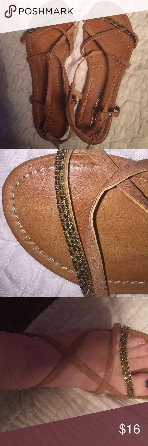 gladiators worn one time for prom, perfect condition, adjustable side Maurices Shoes Sandals