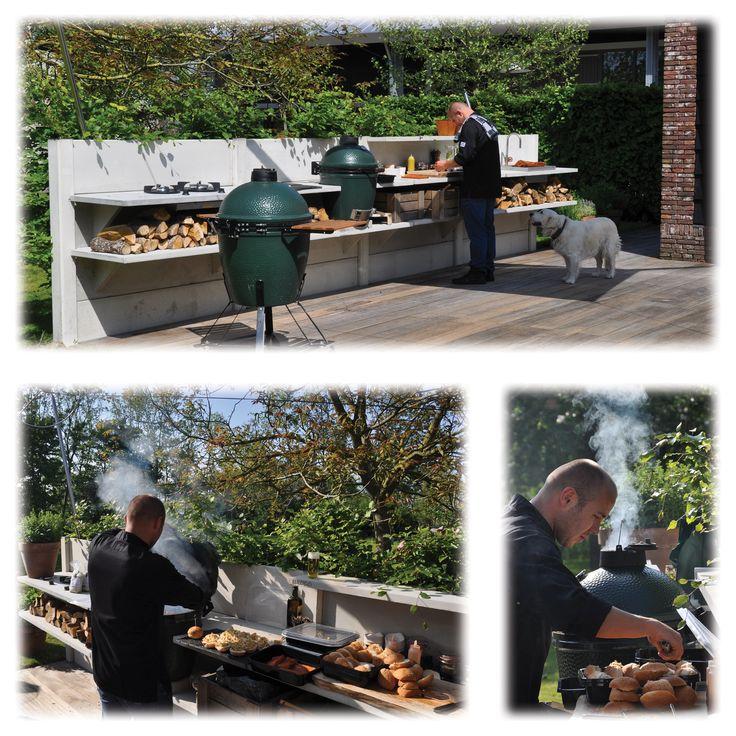 WWOO concrete outdoor kitchen.  More information: wwoo.nl