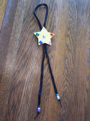 Almost Unschoolers: Kids Bolo Tie Craft for Father's Day (maybe)