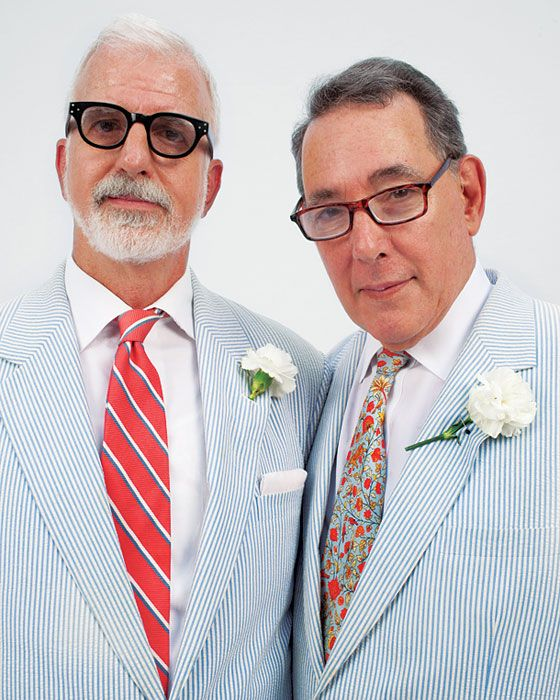 these dudes are stylin' and legally wed (yay ny!)