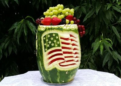 Watermelon carving th of july food art watermelon carving
