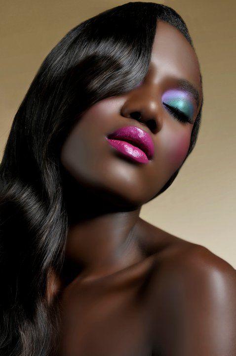 Vogue africa dark skin vibrant make up pretty brown skin love the eye shadow