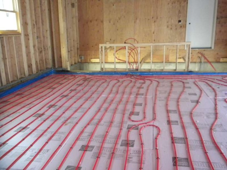 Beautiful Radiant Floor Heat Basement