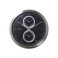 Karlsson Multiple Time Wall Clock Black
