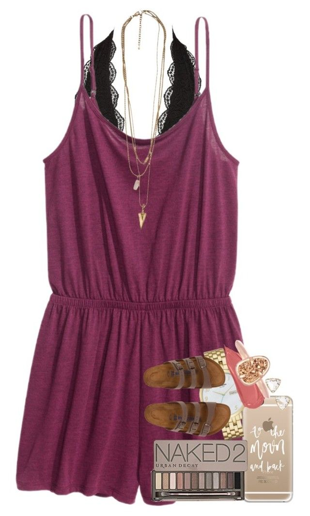 """""""just started watching PLL❤️"""" by ellaswiftie13 on Polyvore featuring Charlotte Russe, Casetify, Kate Spade, Birkenstock, Urban Decay and Kendra Scott"""