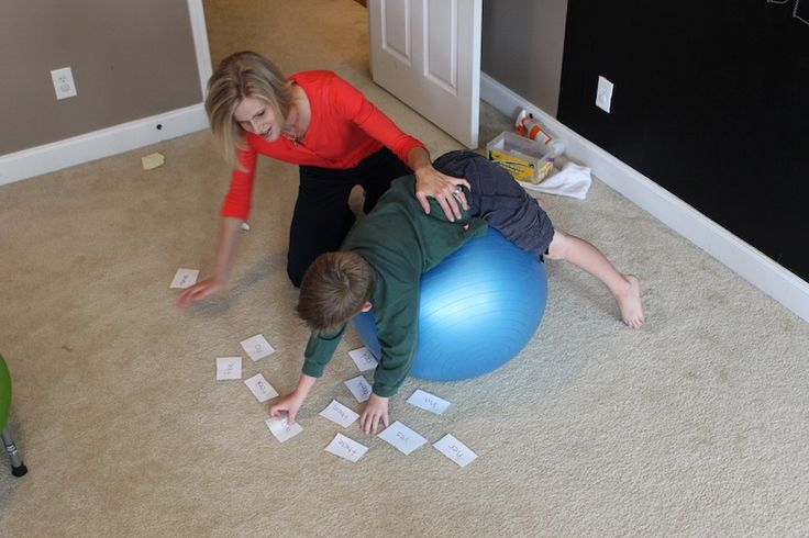 Ball Activities. Can use this for amblyopia therapy to work on vestibular. See this pin for more information about that http://pinterest.com/pin/103019910197393137/