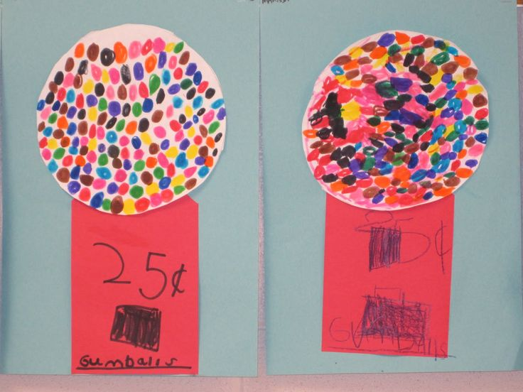 Kindergarten Art Projects | The Clever Feather: Gumball Machines