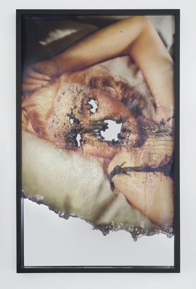 DOUGLAS GORDON, 'Self Portrait of You + Me (Marilyn 5), 2008. Burned print, smoke and mirror.  Yvon Lambert Gallery.