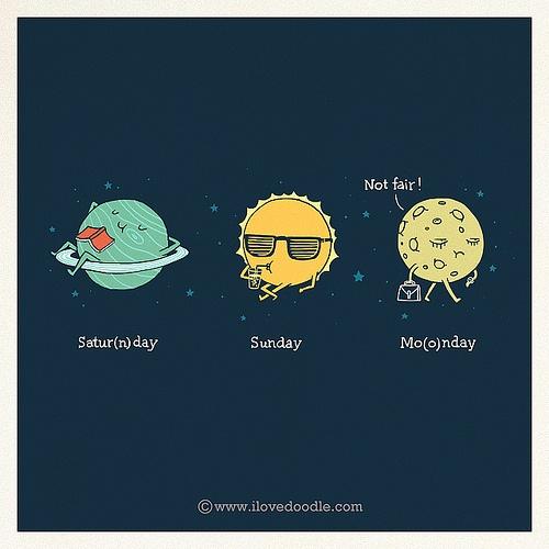 Saturnday Sunday Moonday by Lim Heng Swee aka ilovedoodle
