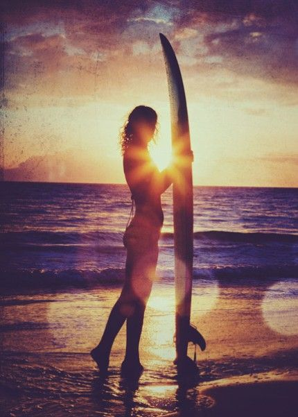 Beautiful photograph - sunset silhouette & some gorgeous textures (added in photoshop)