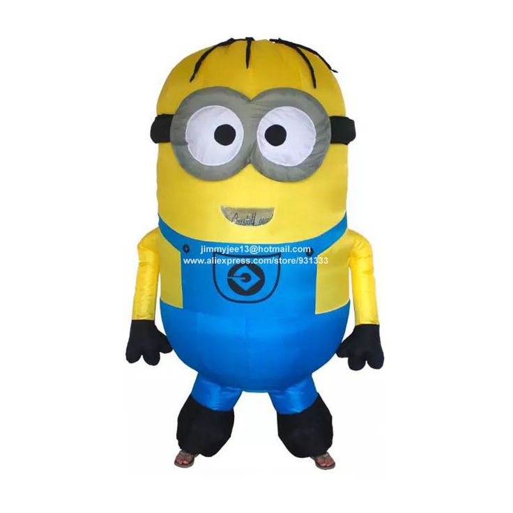 ==> [Free Shipping] Buy Best Inflatable Adult Minion Costume Halloween Cosplay Party Despicable Me Minion Costume Mascot Airblown Outfits Fancy Dress Online with LOWEST Price | 32644976873