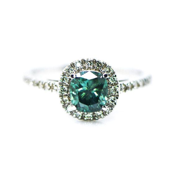 Diamond Engagement Ring  14K White Gold Ring by DiamondsCollection