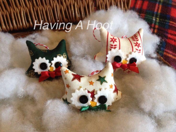 Trio of Little Christmas Teenie Boys , Handmade ❤️
