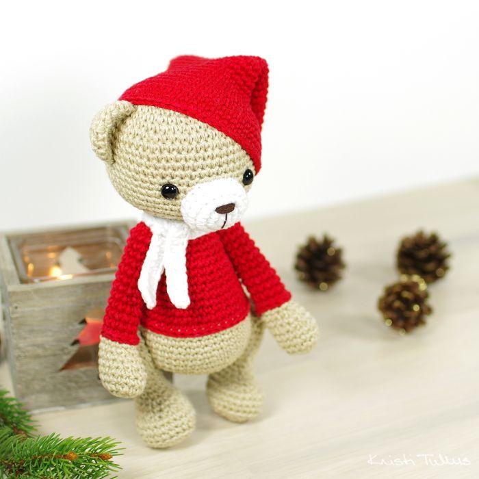 Christmas teddy bear pattern // Kristi Tullus (spire.ee)