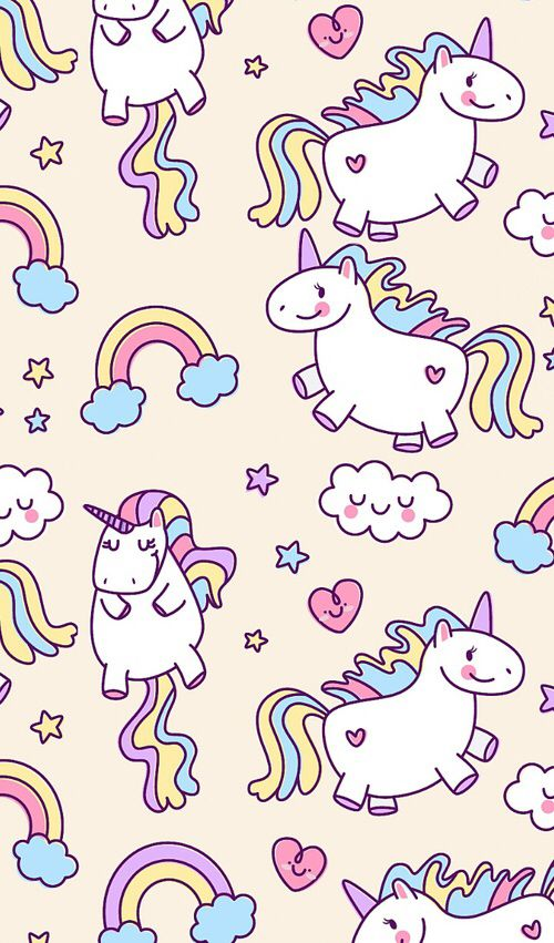 Weheartit Entry 242399368 Phone BackgroundsWallpaper BackgroundsIphone WallpapersLock Screen WallpaperCute UnicornKawaii