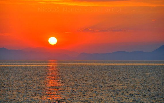 Sunset - Greece ,Travel Photography Digital Photography by Nicolas Nanev (All rights Reserved)