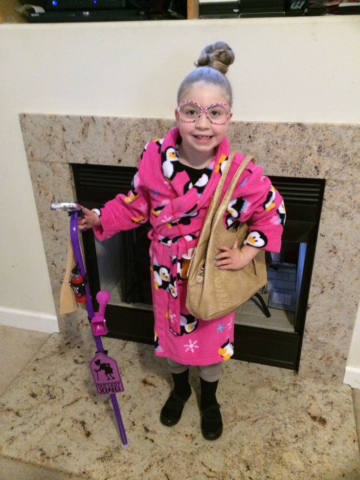 100th day of school dressed like a 100 year old lady