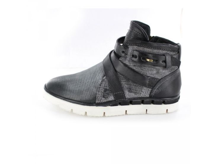 A.S. 98 - Extravaganter Sneaker high mit weißer Laufsohle