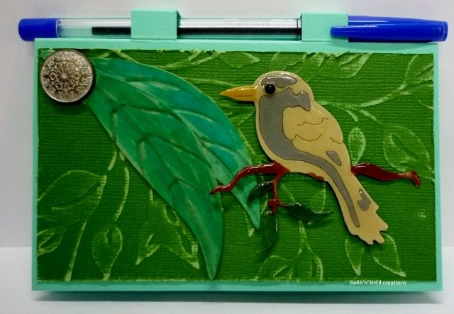 BaRb'n'ShEll creations-covered post it notes - BaRb