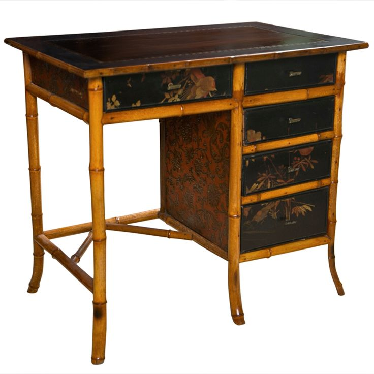 Victorian Chinoiserie Bamboo Desk - 20 Best Interiors : Antique Bamboo Images On Pinterest Wardrobes