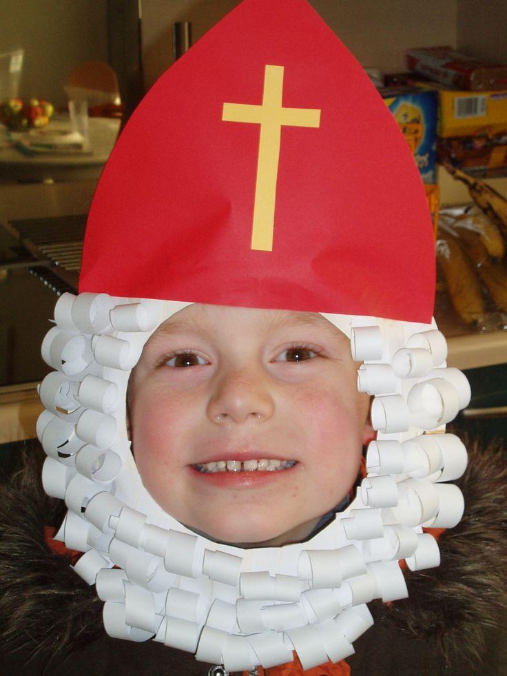 Sinterklaas masker van papieren bordje