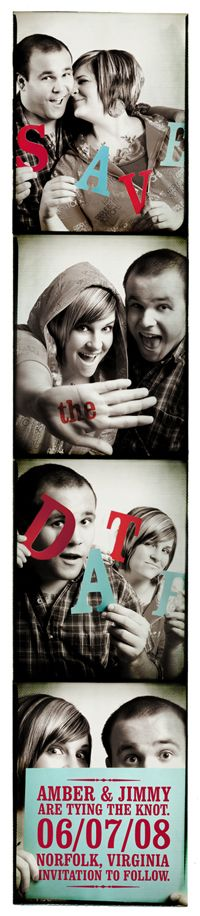 """Mariages Rétro: """"Save the date"""" photomaton"""