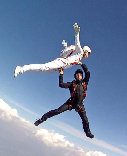 Karine Joly and Greg Crozier, new freestyle trick! Picture...