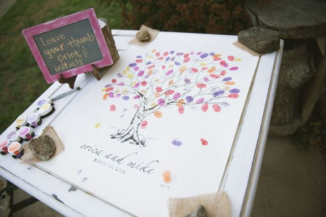 A canvas with pre made design and few acrylic pens for guests to sign and write wishes on