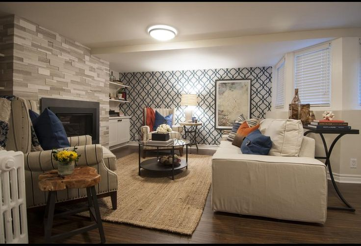 Bold patterned wallpaper income property hgtv canada for How much is scott mcgillivray house