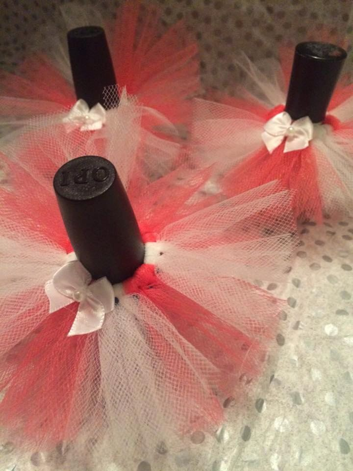 Bachelorette Party Favors Nail Polish Glitter Wine Glass Idea NAIL POLISH INCLUDED 20 Tutu Favor Bridal Shower