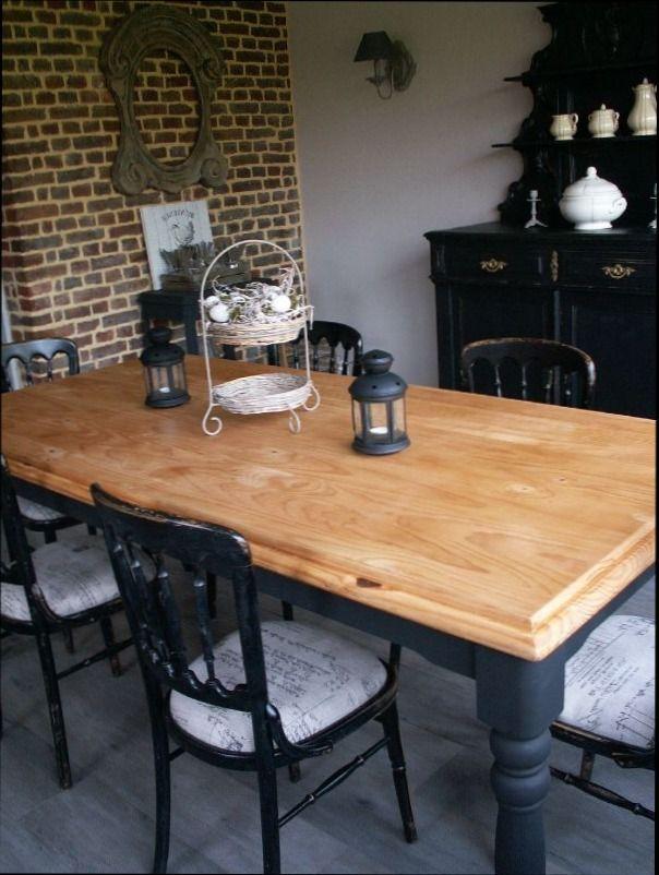 15 best renovation salle a manger images on pinterest room dining room and diner table. Black Bedroom Furniture Sets. Home Design Ideas