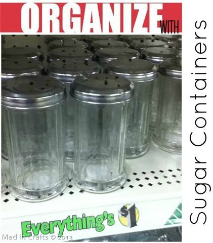 Organize Your Whole House with One Trip to the Dollar Store ~ MAD IN CRAFTS. Love this idea. dUH!