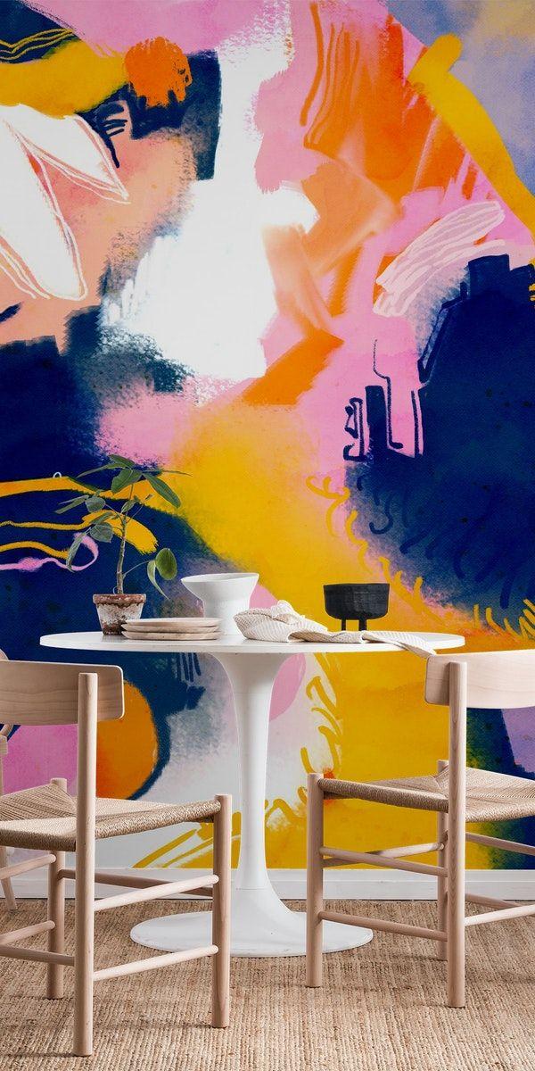 Deep Dream Wall Mural Abstract Wallpaper Mural Abstract