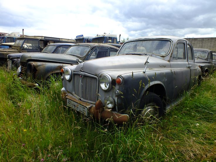 Some Scrapped Rover At A Scrap Yard In Hartlepool