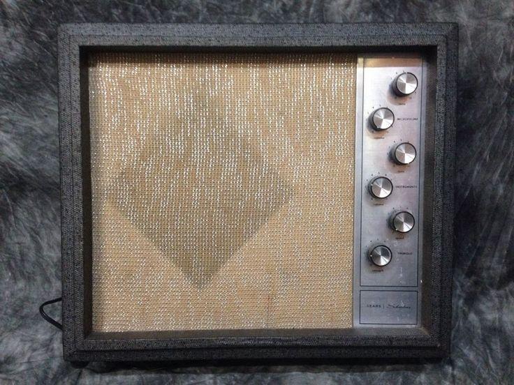60S Silvertone 1482 Tube Guitar Amp Amplifier Vintage #Silvertone