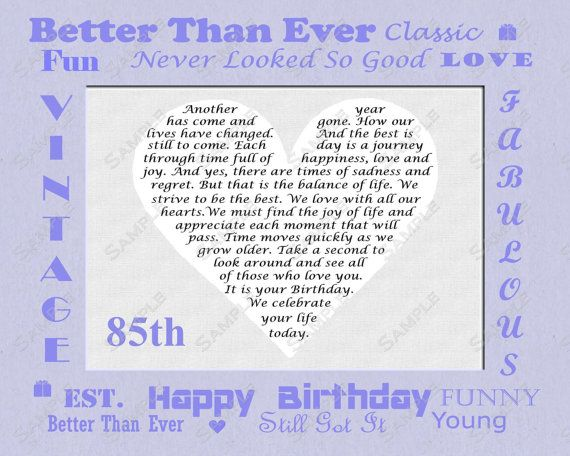 16 best Mums birthday images – 85th Birthday Cards