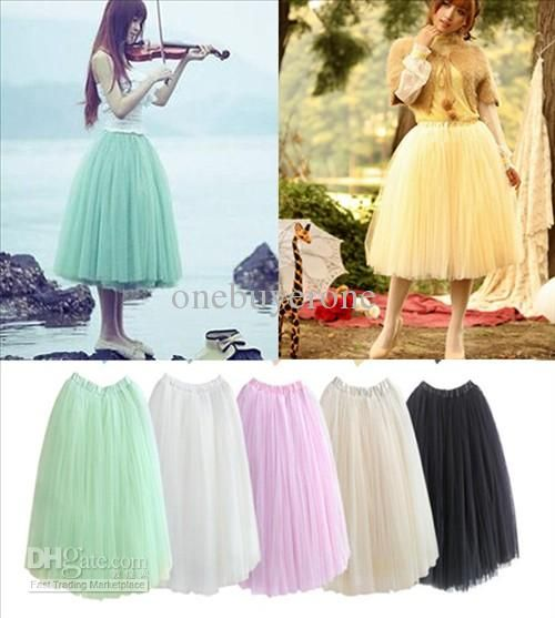 Buy cheap Summer Holiday Layered Puff Tulle Dress Princess Skirt with $17.44-23.95/Piece DHgate