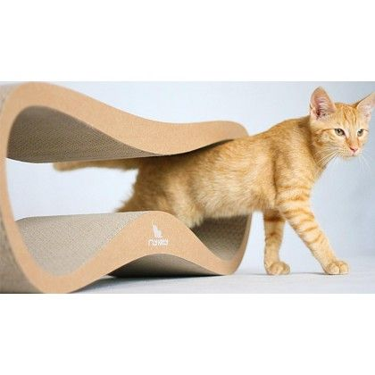myKotty LUI Brown Cat Scratcher Lounger