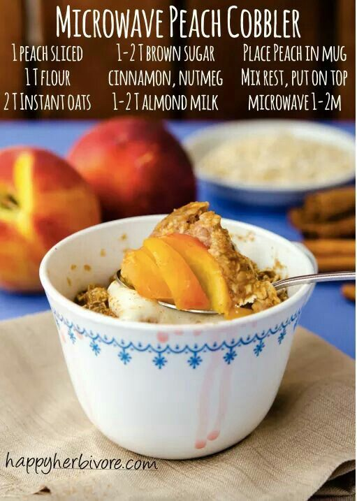 Microwave Peach Cobbler - Happy Herbivore