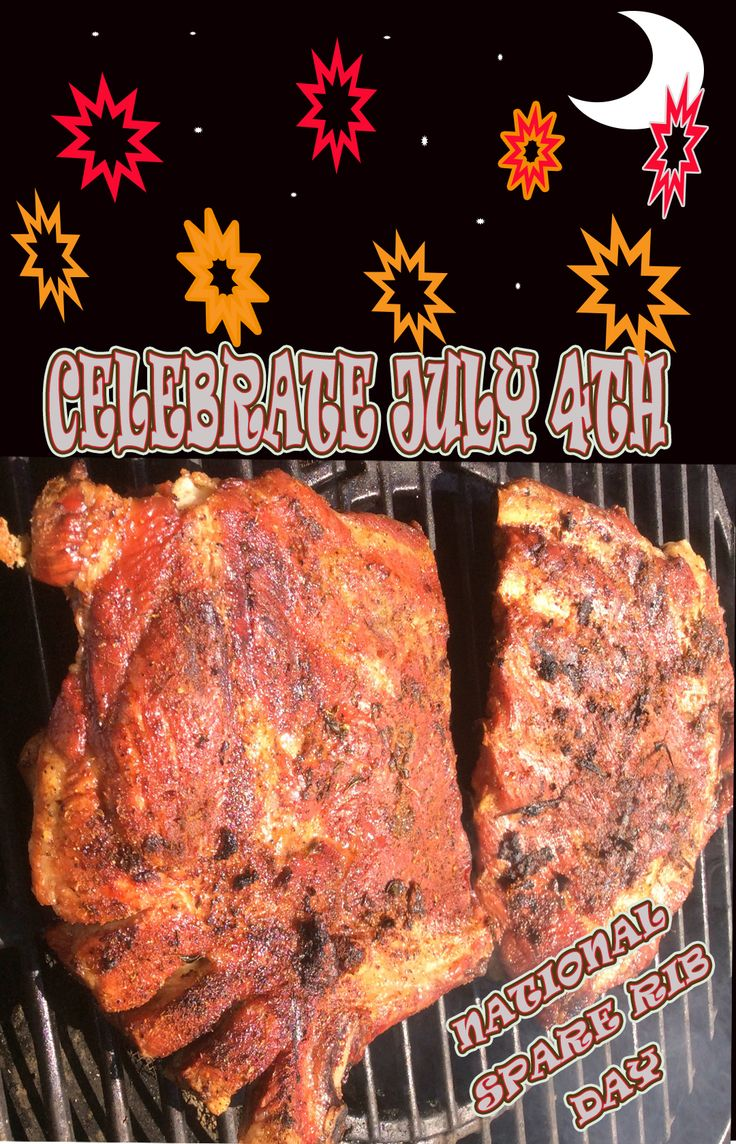 "SmokinLicious® salutes a double celebration today-  ""USA Independence Day""  and ""National Barbecued Spareribs Day."" What is the common thread?  241 years of history notes that July 4th has been celebrated with fireworks, gatherings, concerts, parades, sports, picnics and- BARBECUES!  Happy 4th and go ahead today with a historically  accurate barbecue of spareribs!"
