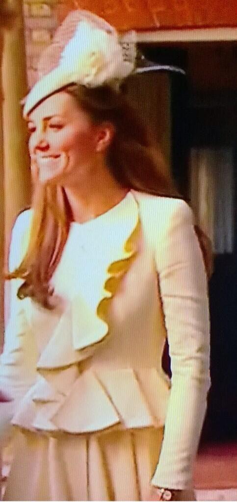 HRH The Duchess of Cambridge arriving for her son's christening 23rd October 2013
