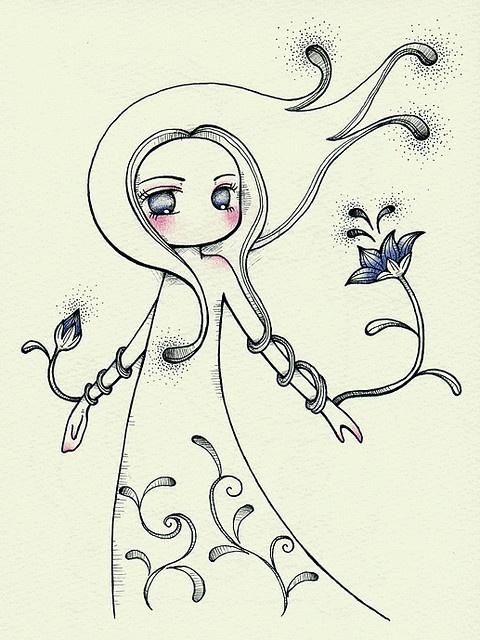 Girl  flower by Juri Ueda