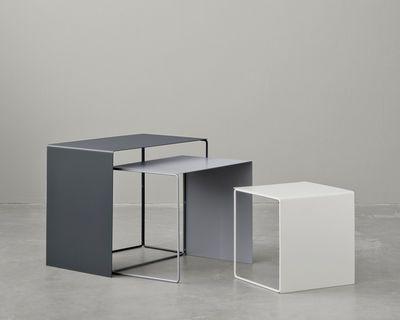 Tables gigognes Cluster / Set de 3 Gris clair / Gris / Anthracite - Ferm Living