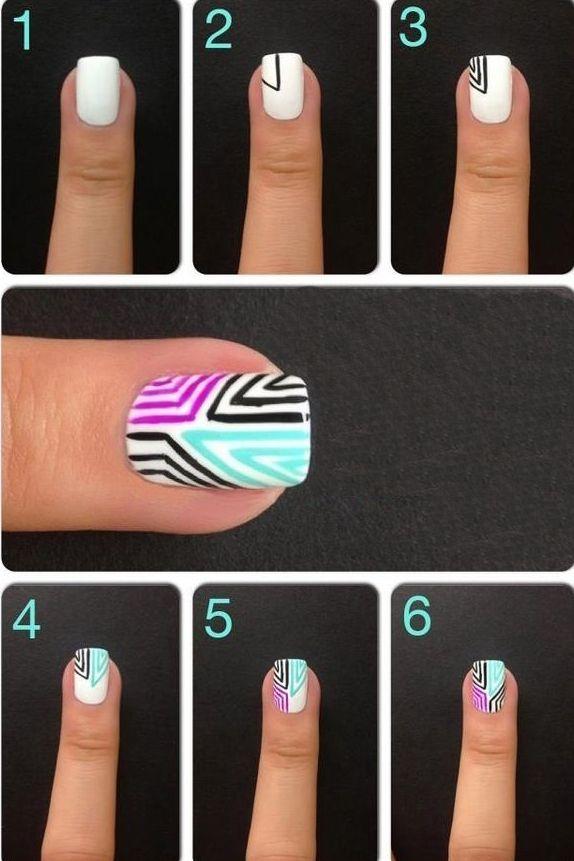 diseños de uñas paso a paso